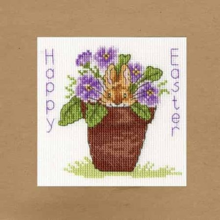 Bothy Threads Cross Stitch Kit - Easter Bunny Card