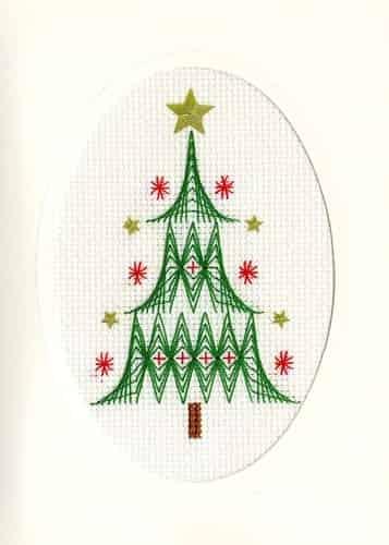Bothy Threads Cross Stitch Kit - Christmas Card, Christmas Tree