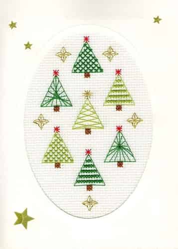 Bothy Threads Cross Stitch Kit - Christmas Card, Christmas Forest