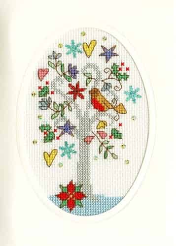 Bothy Threads Cross Stitch Kit - Christmas Card, Winter Wishes