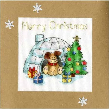 Bothy Threads Cross Stitch Kit - Christmas Card, Winter Woof