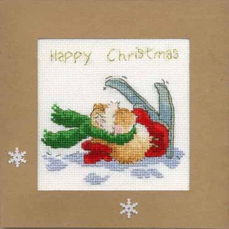 Bothy Threads Cross Stitch Kit - Christmas Card, Apres Ski
