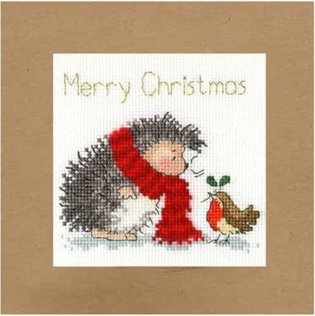 Bothy Threads Cross Stitch Kit - Christmas Card, Christmas Wishes