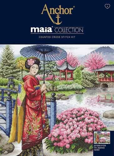 Anchor Maia Collection Cross Stitch Kit - The Japanese Garden