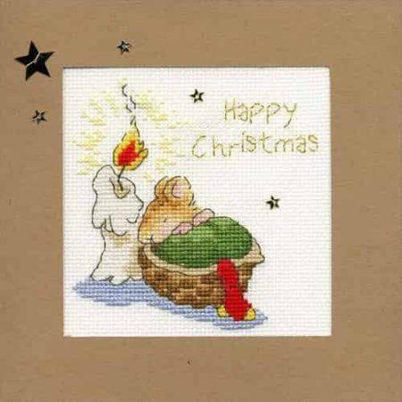 Bothy Threads Cross Stitch Kit - Christmas Card, First Christmas.