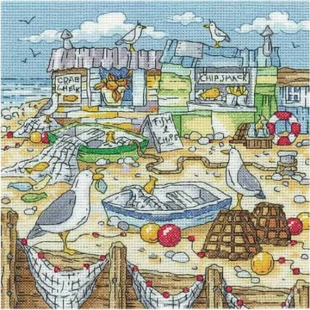 Heritage Crafts Cross Stitch Kit - By The Sea - Chip Shack