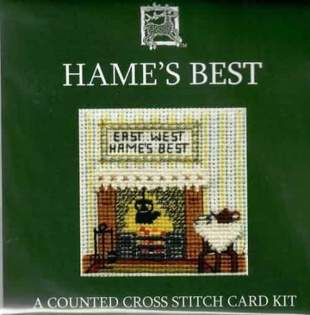 Textile Heritage Cross Stitch Kit - Card - Hame's Best - Made in Scotland