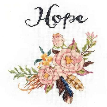 Janlynn Cross Stitch Kit - Watercolour Flowers - Hope