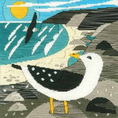 Bothy Threads Long Stitch Kit - Silken Scenes - Seagulls, Bird