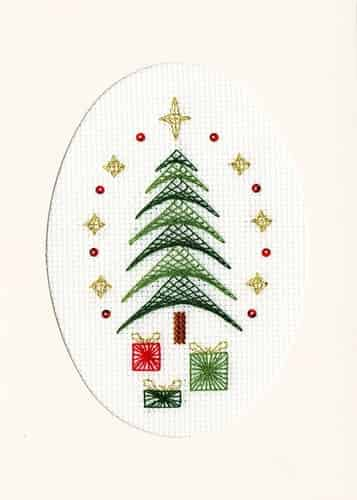 Bothy Threads Cross Stitch Kit - Christmas Card, All Wrapped Up