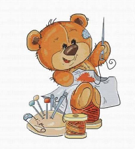 Luca S Cross Stitch Kit - Stitching Bear B1180