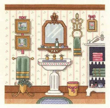 Janlynn Cross Stitch Kit - Victorian Sink