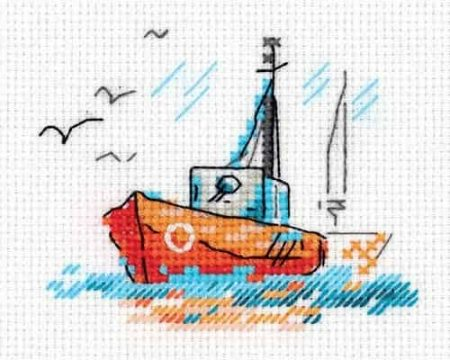 Klart Cross Stitch Kit - Fishing Boat