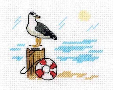 Klart Cross Stitch Kit - Seagull