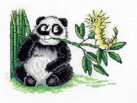 Klart Cross Stitch Kit - Panda and Caterpillar