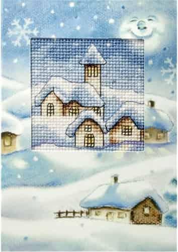 Orchidea Cross Stitch Kit - Christmas Card, Christmas Church