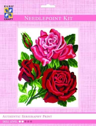 Grafitec Needlepoint Tapestry Kit - Trio of Roses