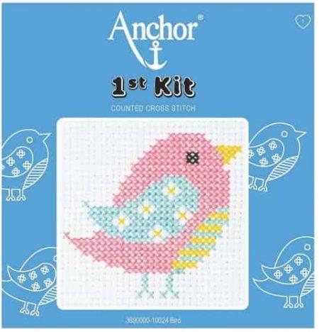 Anchor Beginners 1st Cross Stitch Kit - Bird - 100024