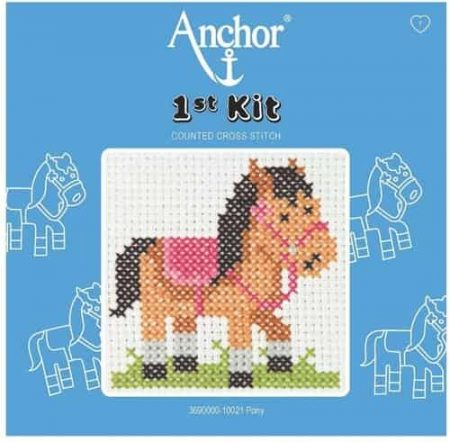 Anchor Beginners 1st Cross Stitch Kit - Pony - 100021