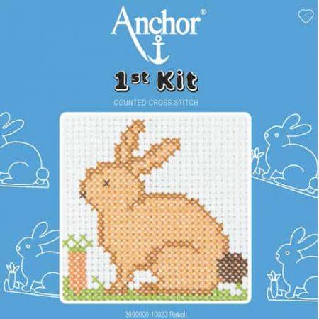 Anchor Beginners 1st Cross Stitch Kit - Rabbit 10023