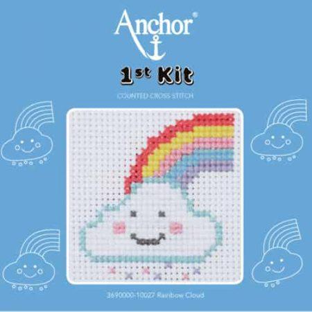 Anchor Beginners 1st Cross Stitch Kit - Rainbow Cloud 10027