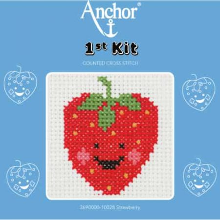Anchor Beginners 1st Cross Stitch Kit - Strawberry - 10028