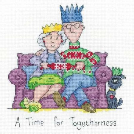 Heritage Crafts Cross Stitch Kit - Golden Years - Togetherness, Christmas