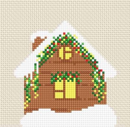 Luca S Cross Stitch Kit -  Christmas Cabin B092