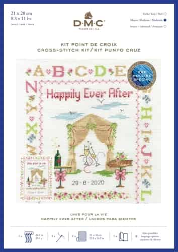 DMC Cross Stitch Kit - Happily Ever After, Wedding BK1922