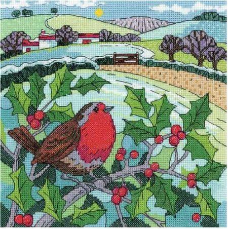 Heritage Crafts Cross Stitch Kit - Winter Landscape