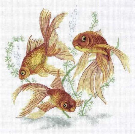 Panna Cross Stitch Kit - Goldfish