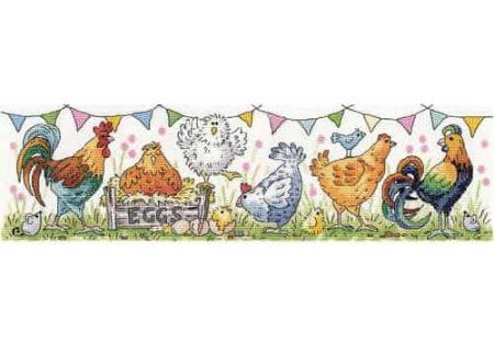 Heritage Crafts Cross Stitch Kit - Chicken Run