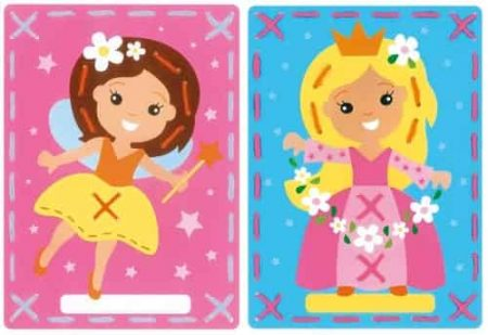 Vervaco Children's Embroidery Kit - Set of 2 pictures - Fairy and Princess