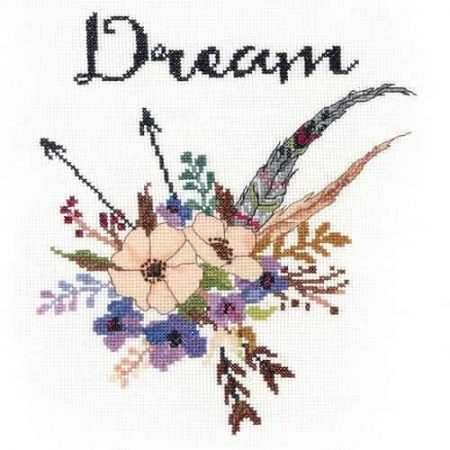 Janlynn Cross Stitch Kit - Watercolour Flowers - Dream