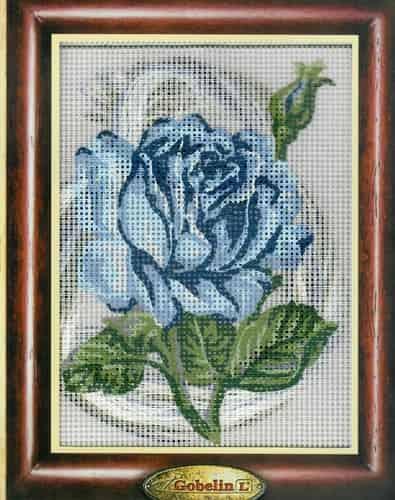 Gobelin Needlepoint Tapestry Kit - Blue Rose