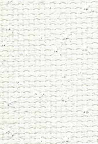 "DMC Charles Craft Iridescent 14 count white Aida 15"" x 18"" (38cm x 45cm)"