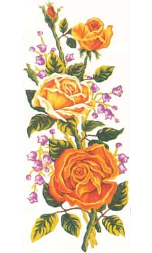 Grafitec Printed Tapestry Canvas - Yellow Roses