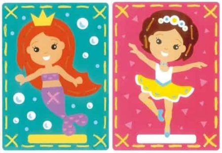 Vervaco Children's Embroidery Kit - Set of 2 pictures - Mermaid and Ballet