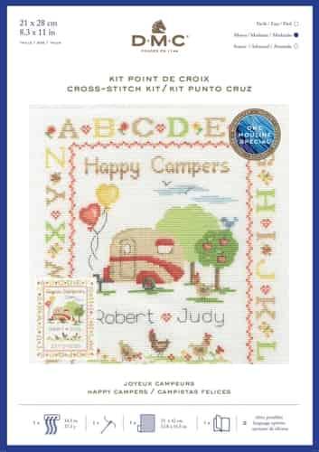 DMC Cross Stitch Kit - Happy Campers BK1923