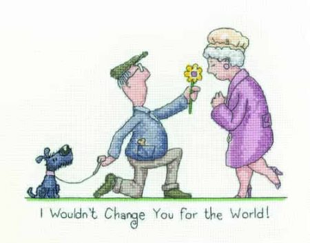 Heritage Crafts Cross Stitch Kit - Golden Years - I Wouldn't Change You