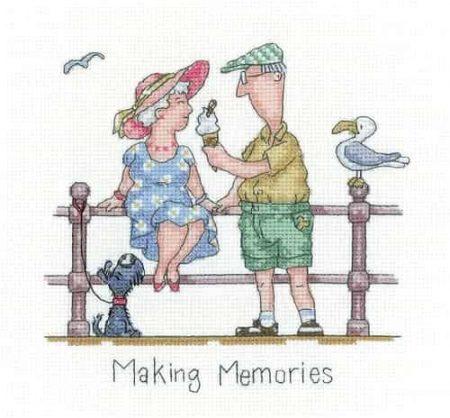 Heritage Crafts Cross Stitch Kit - Golden Years - Making Memories