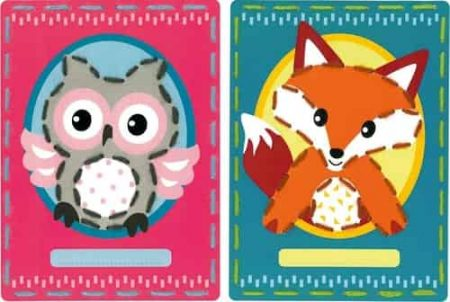 Vervaco Children's Embroidery Kit - Set of 2 pictures - Owl and Fox