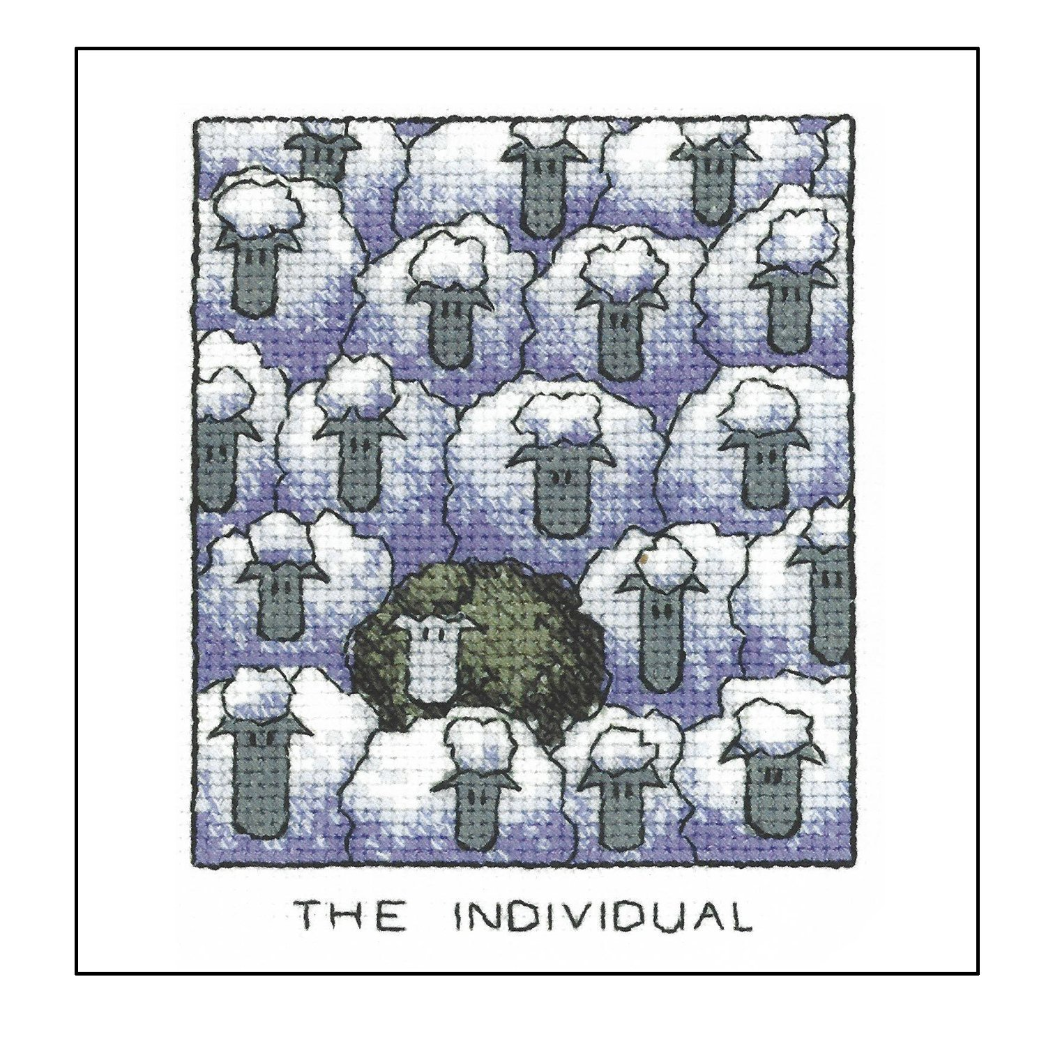 Heritage Crafts Cross Stitch Kit - The Individual, Black Sheep