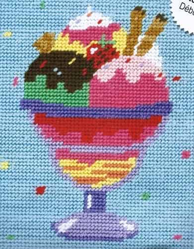 Anchor Starters Needlepoint Tapestry Kit - Ice Cream Sundae MRS907
