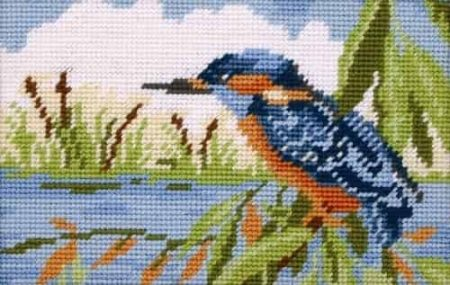 Anchor Tapestry Kit - No Fishing, Kingfisher MR923