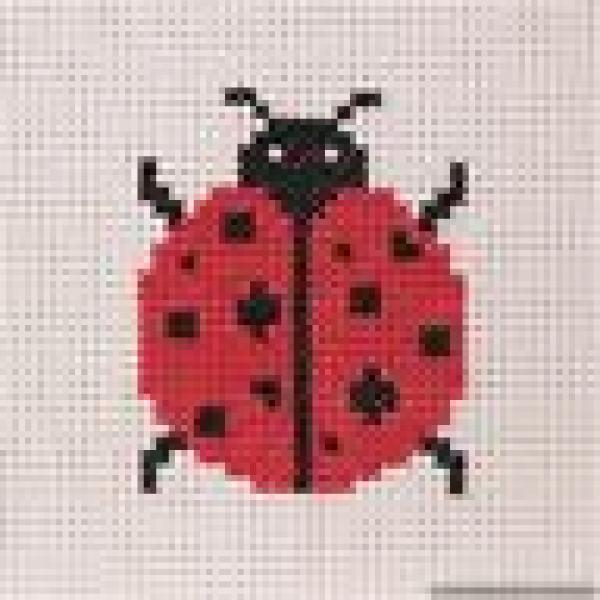 Anchor Beginners 1st Cross Stitch Kit - Ladybird 10016