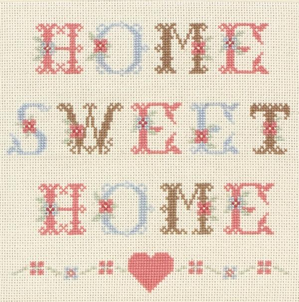 Anchor Cross Stitch Kit - Home Sweet Home Sampler ACS16