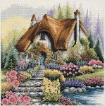 Anchor Cross Stitch Kit - Lakeside Cottage PCE922