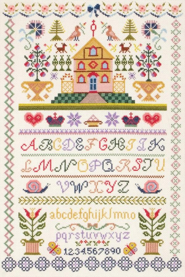 Anchor Cross Stitch Kit - Traditional Sampler CC74027