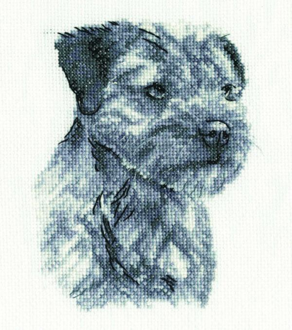 DMC Cross Stitch Kit - Border Terrier BK1694